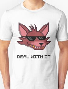 Five Nights at Freddy's - FNAF - Foxy - Deal With It T-Shirt