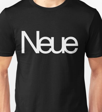 Helvetica Neue Unisex T-Shirt