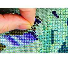 counted cross stitch embroidery Photographic Print