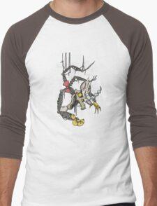 My Little Pony - MLP - FNAF - Discord Animatronic Men's Baseball ¾ T-Shirt