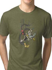 My Little Pony - MLP - FNAF - Discord Animatronic Tri-blend T-Shirt