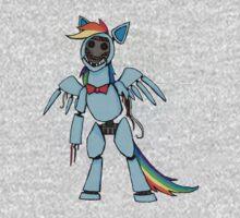 My Little Pony - MLP - FNAF - Rainbow Dash Animatronic Kids Clothes