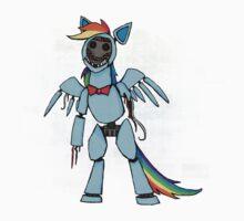 My Little Pony - MLP - FNAF - Rainbow Dash Animatronic Kids Tee