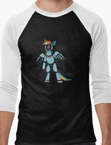 My Little Pony - MLP - FNAF - Rainbow Dash Animatronic Men's Baseball ¾ T-Shirt