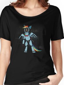 My Little Pony - MLP - FNAF - Rainbow Dash Animatronic Women's Relaxed Fit T-Shirt