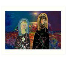 Two Madonnas At Uluru Art Print