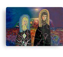 Two Madonnas At Uluru Metal Print