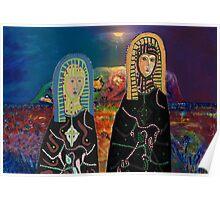 Two Madonnas At Uluru Poster