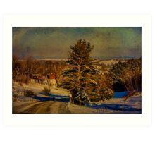 Rural Winter In Vermont Art Print