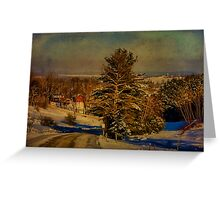 Rural Winter In Vermont Greeting Card