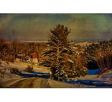 Rural Winter In Vermont Photographic Print