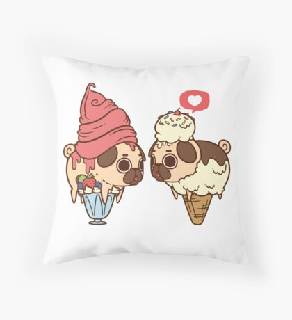 Puglie Froyo and Ice Cream Throw Pillow