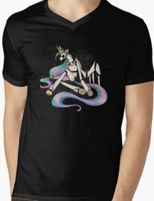 My Little Pony - MLP - FNAF - Princess Celestia Animatronic Mens V-Neck T-Shirt