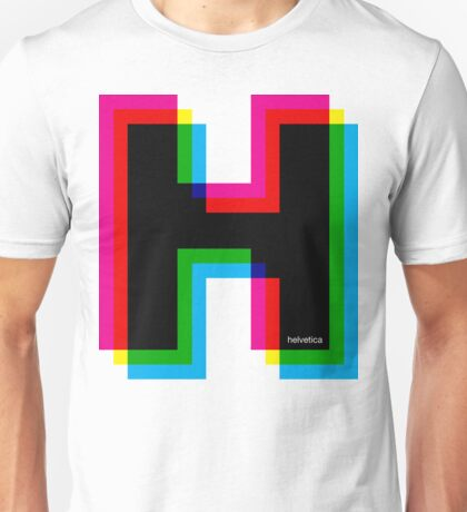 Helvetica H CMYK Unisex T-Shirt