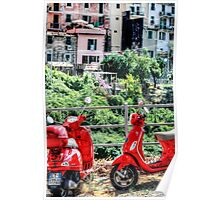 2 Red Scooters Poster
