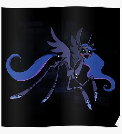 My Little Pony - FNAF - Princess Luna as the Puppet Poster