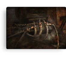 Steampunk - Electrical - Frayed Connections Canvas Print
