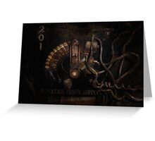 Steampunk - Electrical - Rotary Switch Greeting Card