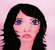 Portrait, watercolor by Anna  Lewis