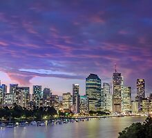 Eventide - Brisbane City Qld Australia by Beth  Wode