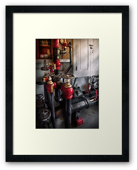 Steampunk - Plumbing - Turn the valve  by Mike  Savad