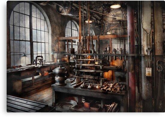 Steampunk - Room - Steampunk Studio by Mike  Savad