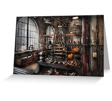 Steampunk - Room - Steampunk Studio Greeting Card