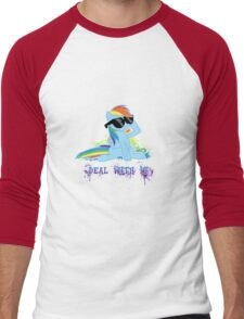 My Little Pony - MLP - Raindow Dash - Deal With It Men's Baseball ¾ T-Shirt