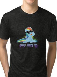 My Little Pony - MLP - Raindow Dash - Deal With It Tri-blend T-Shirt