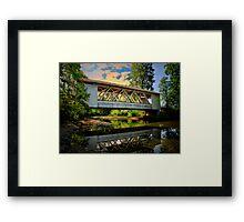 Larwood Covered Bridge Framed Print