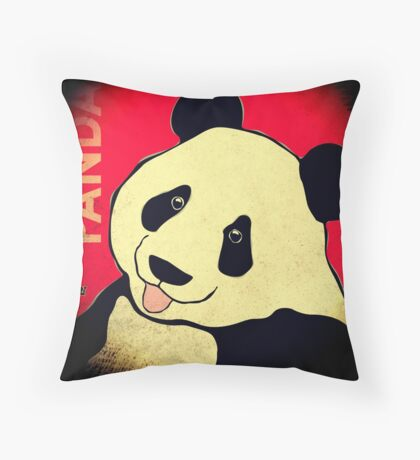 Panda Bear (Rustic) Throw Pillow
