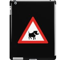 Beware of Warthogs, Traffic Sign, South Africa iPad Case/Skin
