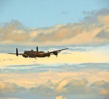 Lancaster Bomber flying in Blackpool by chrisallen236