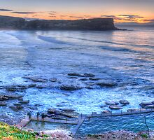 Greeting the Dawn (The Photographers Cut) - Avalon Headland & Beach - The HDR Experience by Philip Johnson