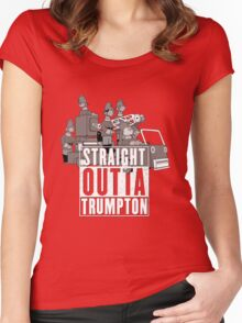 Straight Outta Trumpton Women's Fitted Scoop T-Shirt