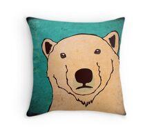 Polar Bear (Rustic) Throw Pillow