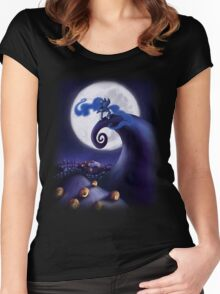 My Little Pony - MLP - Nightmare Before Christmas - Princess Luna's Lament Women's Fitted Scoop T-Shirt