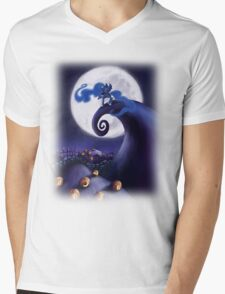 My Little Pony - MLP - Nightmare Before Christmas - Princess Luna's Lament Mens V-Neck T-Shirt