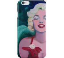 """""""Keep The Diamond in Your Mind""""- Marilyn - Oil painting on canvas by Nina Vox  iPhone Case/Skin"""