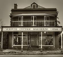 Morpeth Cottage Bakehouse in Sepia by Sharon Brown