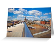 St Pauls Cathedral from Millennium Bridge London Greeting Card