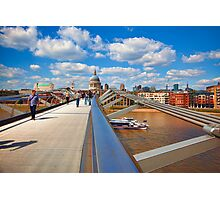 St Pauls Cathedral from Millennium Bridge London Photographic Print