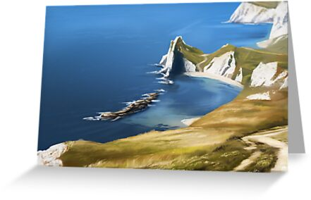 Durdle Door Coastal Walk by DinobotTees