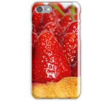 Strawberry cake with mint macro closeup iPhone Case/Skin