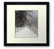 Capstone in Winter Framed Print