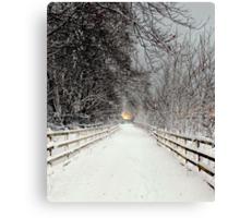 Capstone in Winter Canvas Print