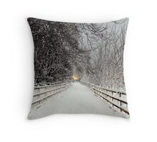 Capstone in Winter Throw Pillow