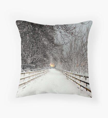 Capstone in Winter Throw Pillow