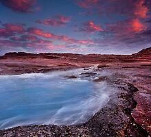 Where the red rocks meet the blue ocean, Kalbarri, Western Australia by Marc Russo