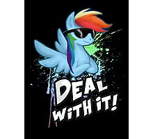 My Little Pony - MLP - Rainbow Dash - Deal With It Photographic Print